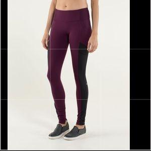 Lululemon Avenue yoga Pant Plum Hyper Stripe Plum
